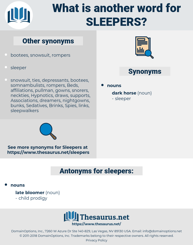 sleepers, synonym sleepers, another word for sleepers, words like sleepers, thesaurus sleepers
