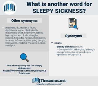 sleepy sickness, synonym sleepy sickness, another word for sleepy sickness, words like sleepy sickness, thesaurus sleepy sickness