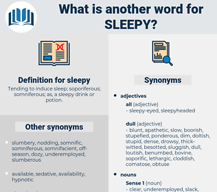 sleepy, synonym sleepy, another word for sleepy, words like sleepy, thesaurus sleepy
