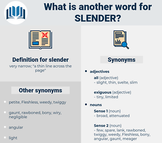 slender, synonym slender, another word for slender, words like slender, thesaurus slender