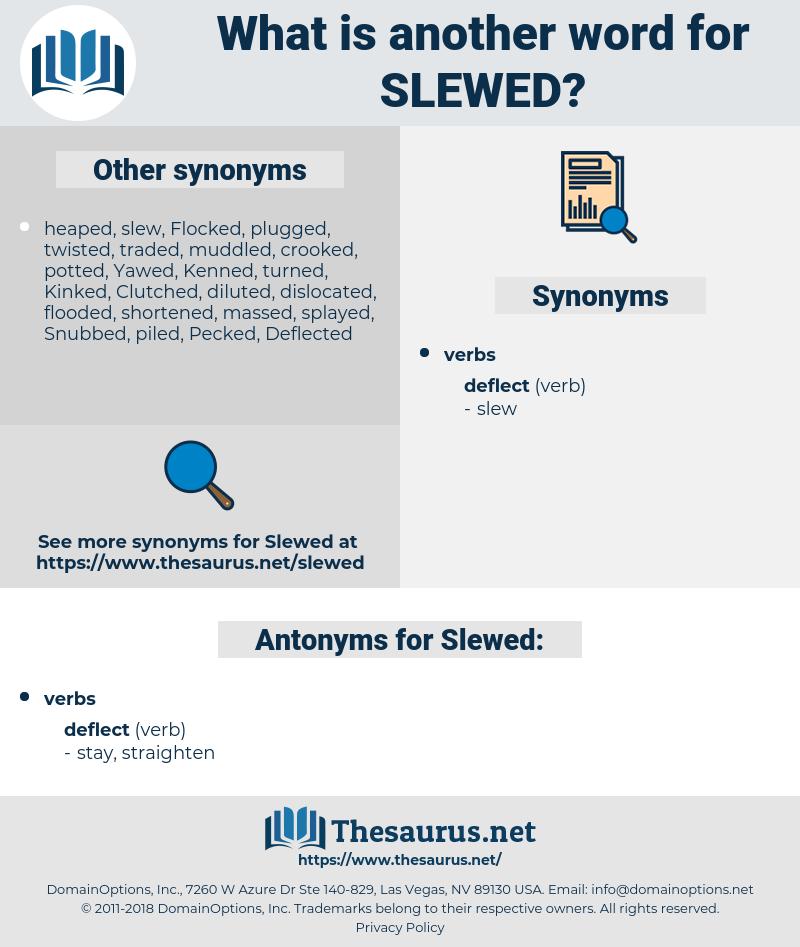 Slewed, synonym Slewed, another word for Slewed, words like Slewed, thesaurus Slewed