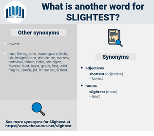slightest, synonym slightest, another word for slightest, words like slightest, thesaurus slightest