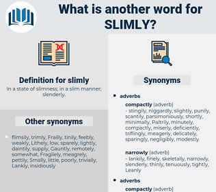 slimly, synonym slimly, another word for slimly, words like slimly, thesaurus slimly