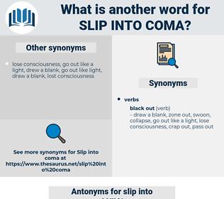 slip into coma, synonym slip into coma, another word for slip into coma, words like slip into coma, thesaurus slip into coma