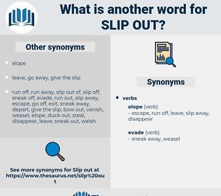 slip out, synonym slip out, another word for slip out, words like slip out, thesaurus slip out