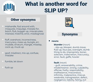 slip-up, synonym slip-up, another word for slip-up, words like slip-up, thesaurus slip-up