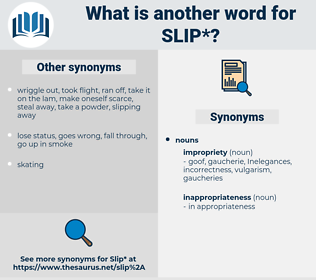 slip, synonym slip, another word for slip, words like slip, thesaurus slip