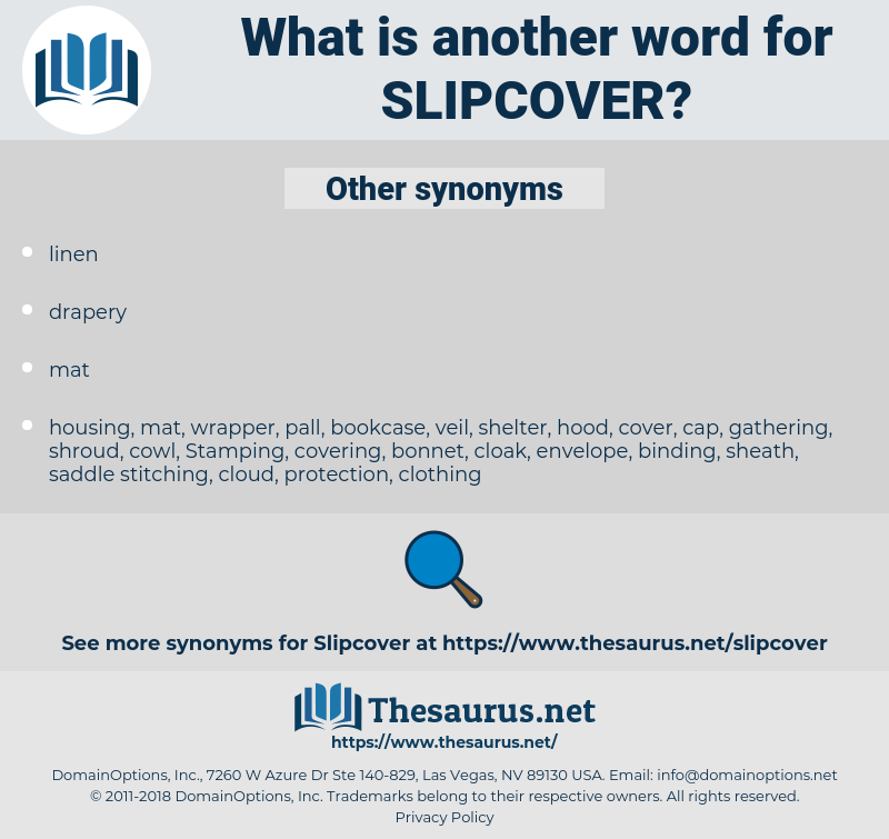 slipcover, synonym slipcover, another word for slipcover, words like slipcover, thesaurus slipcover