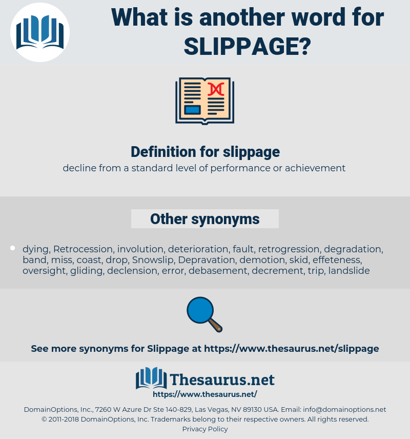slippage, synonym slippage, another word for slippage, words like slippage, thesaurus slippage