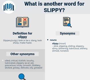 slippy, synonym slippy, another word for slippy, words like slippy, thesaurus slippy