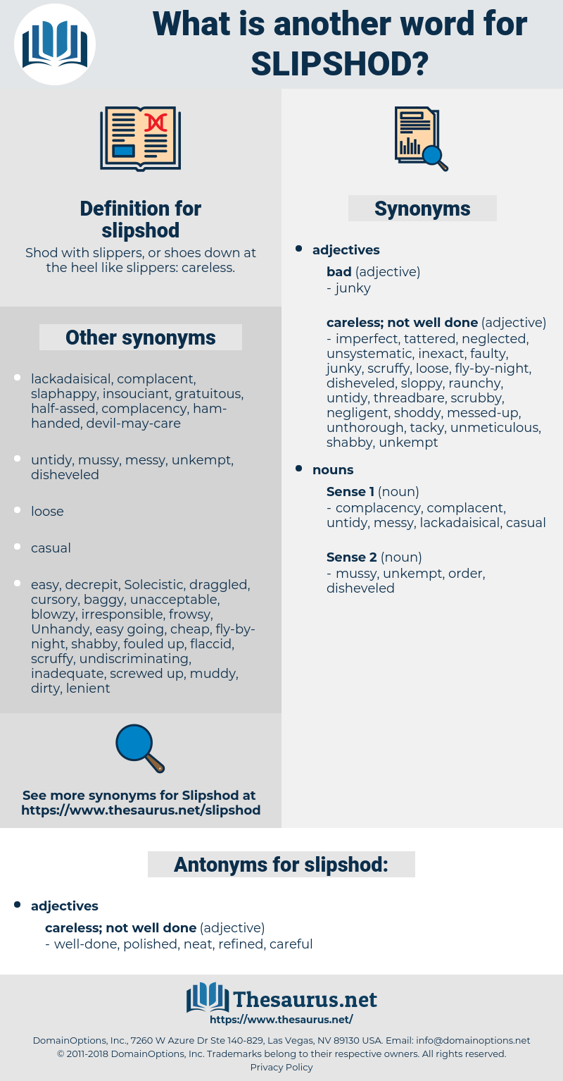 slipshod, synonym slipshod, another word for slipshod, words like slipshod, thesaurus slipshod