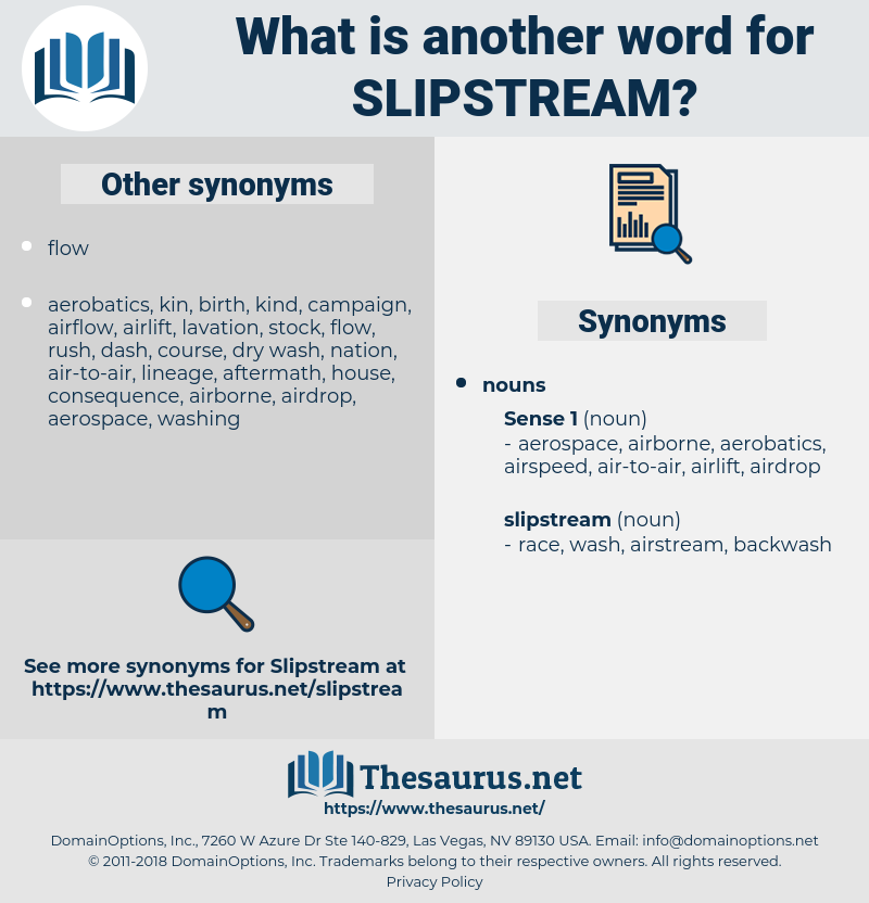 slipstream, synonym slipstream, another word for slipstream, words like slipstream, thesaurus slipstream