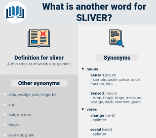 sliver, synonym sliver, another word for sliver, words like sliver, thesaurus sliver