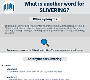 Slivering, synonym Slivering, another word for Slivering, words like Slivering, thesaurus Slivering