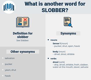 slobber, synonym slobber, another word for slobber, words like slobber, thesaurus slobber