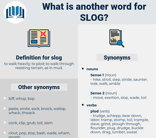 slog, synonym slog, another word for slog, words like slog, thesaurus slog