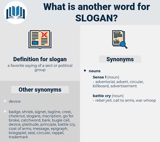 slogan, synonym slogan, another word for slogan, words like slogan, thesaurus slogan