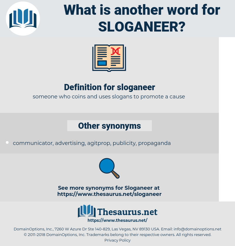sloganeer, synonym sloganeer, another word for sloganeer, words like sloganeer, thesaurus sloganeer