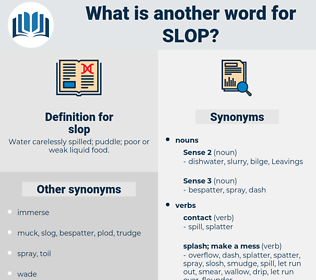 slop, synonym slop, another word for slop, words like slop, thesaurus slop