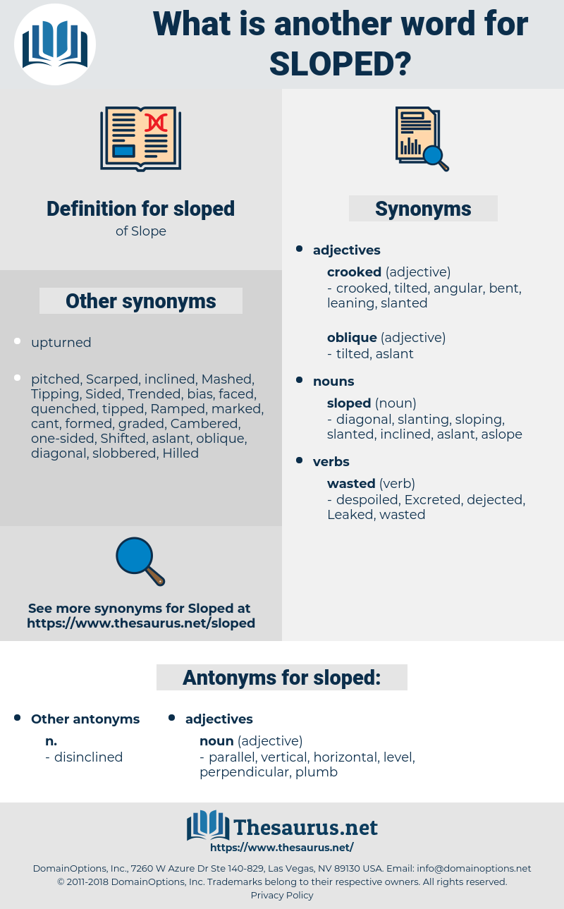 sloped, synonym sloped, another word for sloped, words like sloped, thesaurus sloped