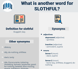 slothful, synonym slothful, another word for slothful, words like slothful, thesaurus slothful