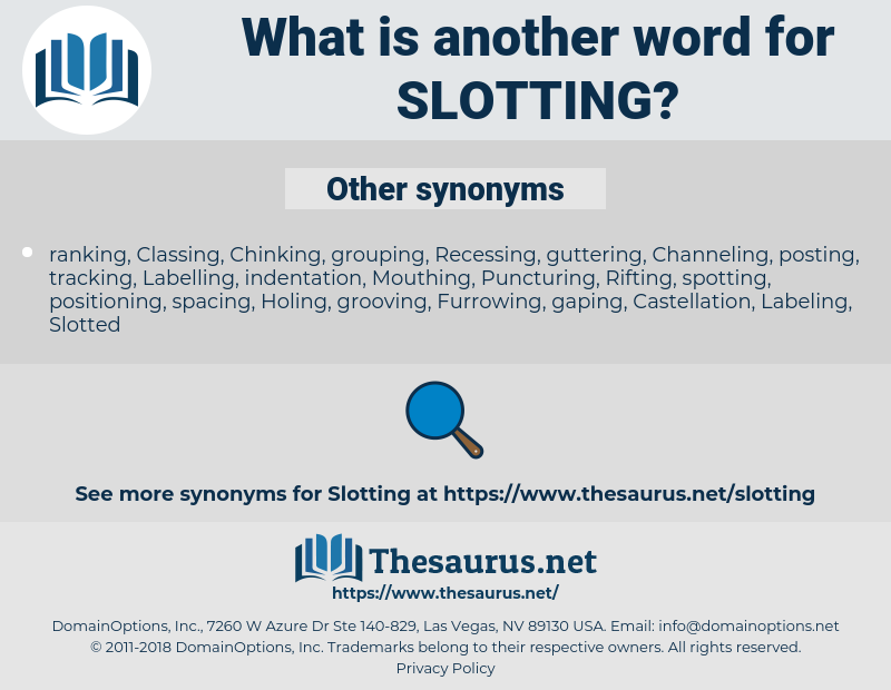 Slotting, synonym Slotting, another word for Slotting, words like Slotting, thesaurus Slotting