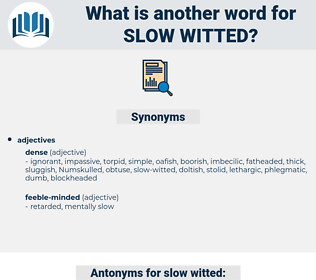 slow-witted, synonym slow-witted, another word for slow-witted, words like slow-witted, thesaurus slow-witted