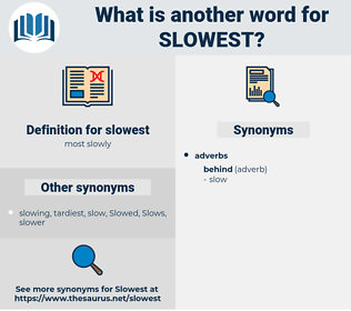 slowest, synonym slowest, another word for slowest, words like slowest, thesaurus slowest