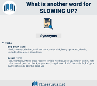 slowing up, synonym slowing up, another word for slowing up, words like slowing up, thesaurus slowing up