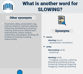 slowing, synonym slowing, another word for slowing, words like slowing, thesaurus slowing