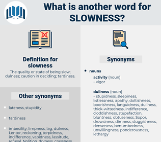 slowness, synonym slowness, another word for slowness, words like slowness, thesaurus slowness