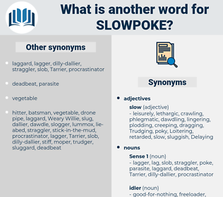 slowpoke, synonym slowpoke, another word for slowpoke, words like slowpoke, thesaurus slowpoke