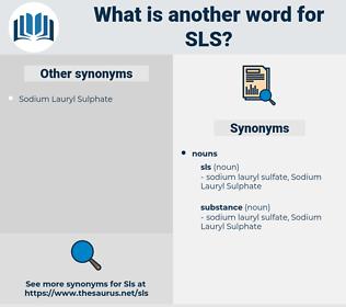 sls, synonym sls, another word for sls, words like sls, thesaurus sls