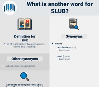 slub, synonym slub, another word for slub, words like slub, thesaurus slub
