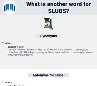 slubs, synonym slubs, another word for slubs, words like slubs, thesaurus slubs