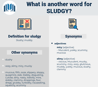 sludgy, synonym sludgy, another word for sludgy, words like sludgy, thesaurus sludgy
