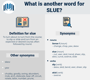 slue, synonym slue, another word for slue, words like slue, thesaurus slue