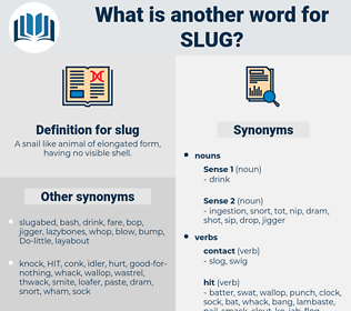 slug, synonym slug, another word for slug, words like slug, thesaurus slug