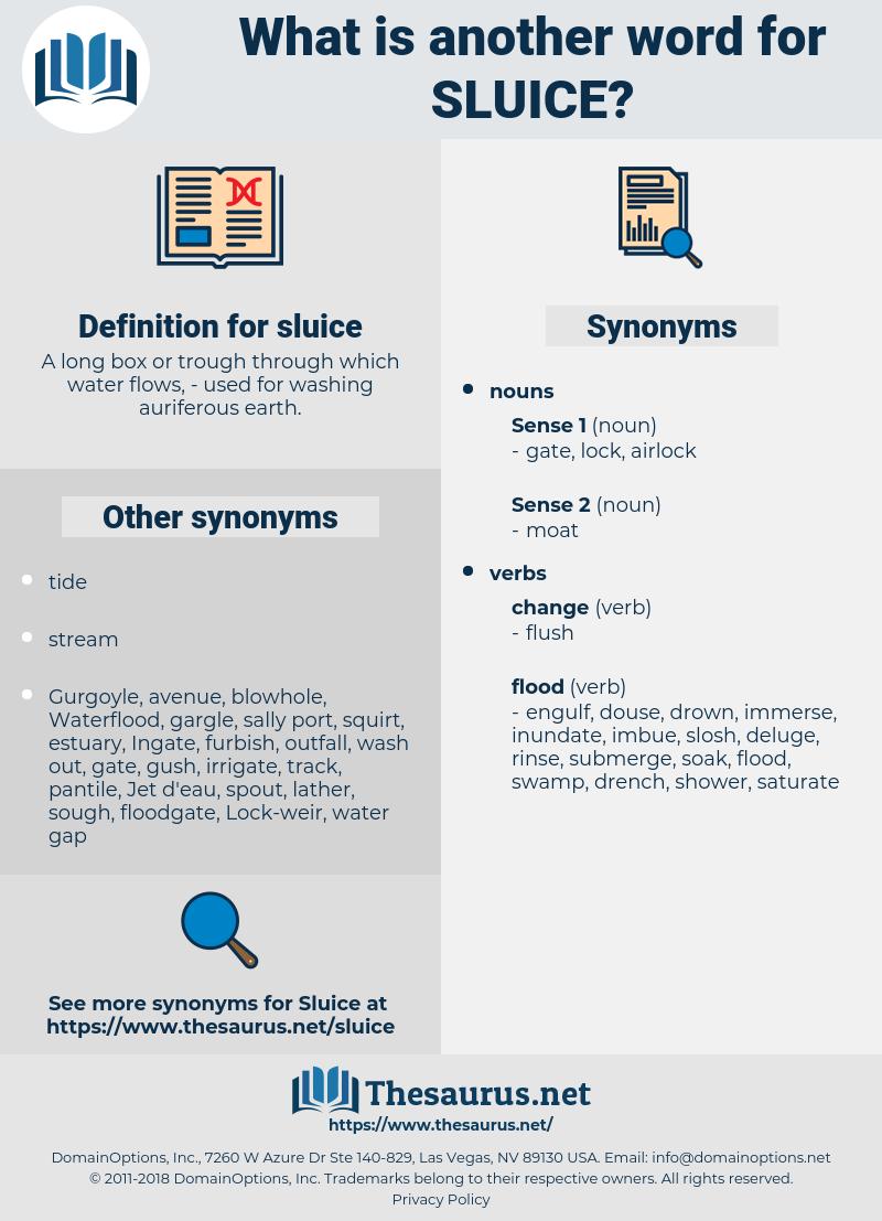sluice, synonym sluice, another word for sluice, words like sluice, thesaurus sluice