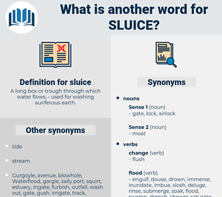 sluice, synonym sluice, another word for sluice, words like sluice, thesaurus sluice
