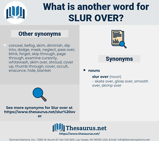 slur over, synonym slur over, another word for slur over, words like slur over, thesaurus slur over