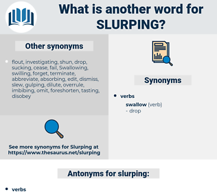 slurping, synonym slurping, another word for slurping, words like slurping, thesaurus slurping