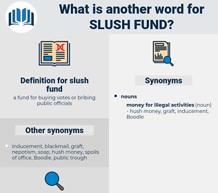 slush fund, synonym slush fund, another word for slush fund, words like slush fund, thesaurus slush fund