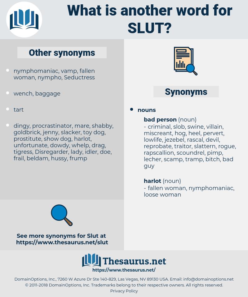 slut, synonym slut, another word for slut, words like slut, thesaurus slut