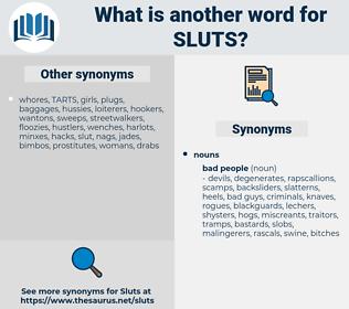sluts, synonym sluts, another word for sluts, words like sluts, thesaurus sluts