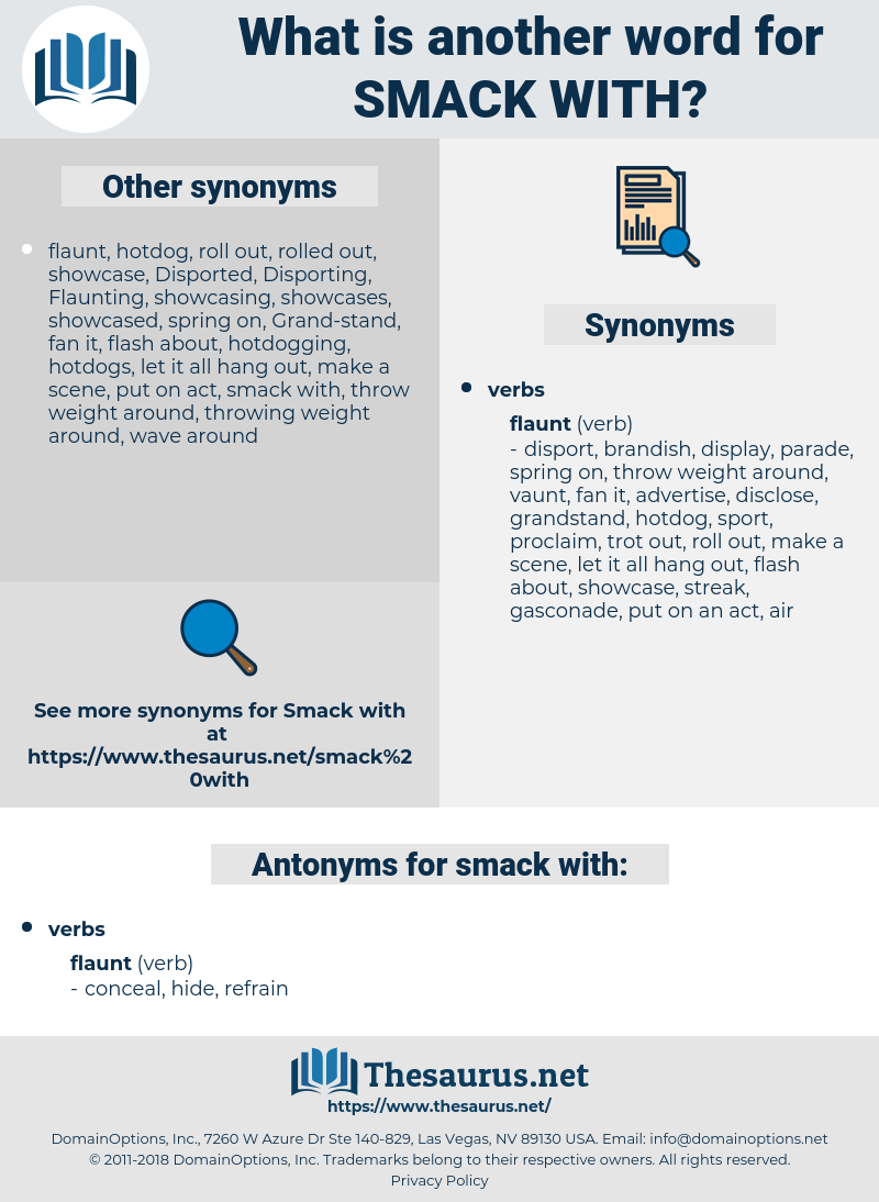 smack with, synonym smack with, another word for smack with, words like smack with, thesaurus smack with