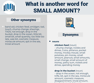 small amount, synonym small amount, another word for small amount, words like small amount, thesaurus small amount