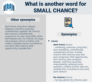 small chance, synonym small chance, another word for small chance, words like small chance, thesaurus small chance