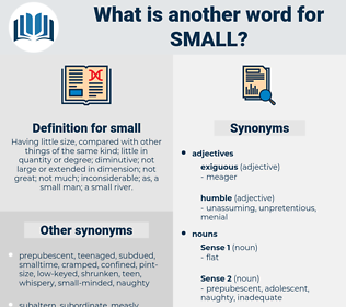 small, synonym small, another word for small, words like small, thesaurus small