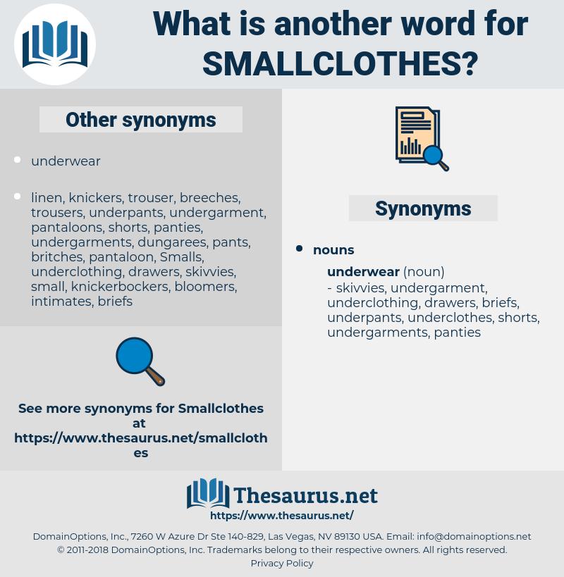 Smallclothes, synonym Smallclothes, another word for Smallclothes, words like Smallclothes, thesaurus Smallclothes